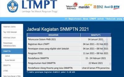 ALUR DAN JADWAL PENTING SNMPTN 2021